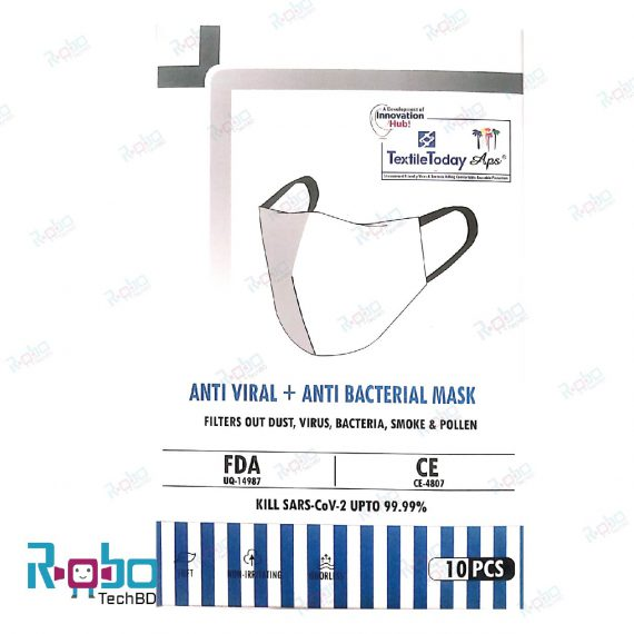 (Exclusive) Anti Viral + Anti Bacterial Knit Fabrics Mask (FDA, CE Approved)