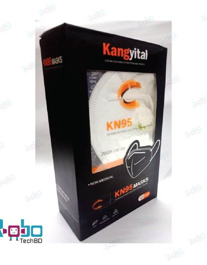 Kangyital KN95 Mask with valve (Individual Pack)
