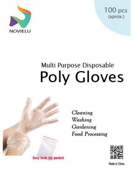 Novielu Disposable Poly Gloves